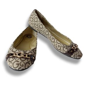 Guess • Taupe, Brown & Gold Flynn #2 Ballet Flat